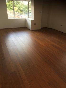 Smoked bamboo flooring