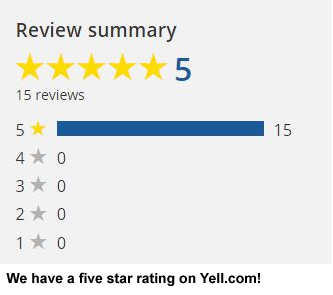Five star rating on Yell